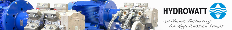 Manufacturer of high pressure pumps and pump assemblies – water hydraulic is our competence.