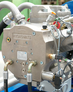 High pressure water pumps, hermetically sealed, suitable for pumping abrasive fluids.