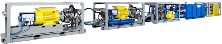mobile emulsion pump system, hydraulic supply to shield, standard design, BS 400-M